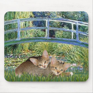 Bridge - Two Tabby Kittens Mouse Pad