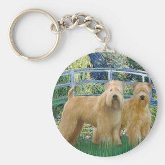 Bridge - Two Wheaten Terriers Keychain