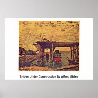 Bridge Under Construction By Alfred Sisley Print