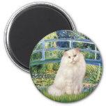 Bridge - White Persian cat Fridge Magnets