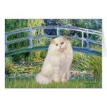 Bridge - White Persian cat Greeting Card