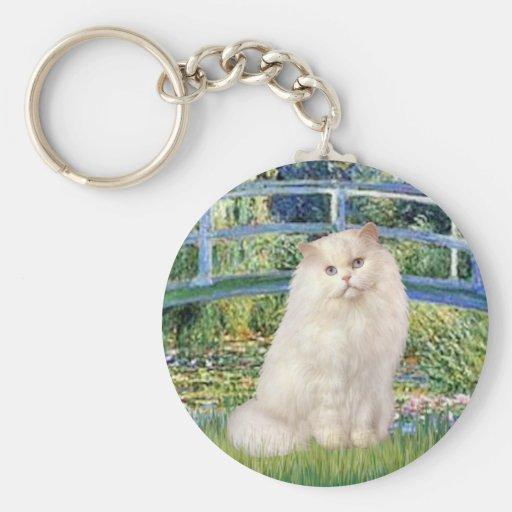 Bridge - White Persian cat Keychains
