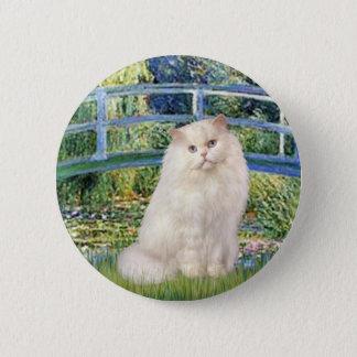 Bridge - White Persian cat Pinback Button