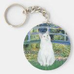 Bridge - White short haired cat Key Chains