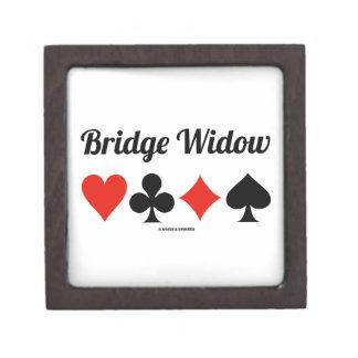 Bridge Widow (Four Card Suits) Jewelry Box