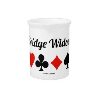 Bridge Widow (Four Card Suits) Pitchers