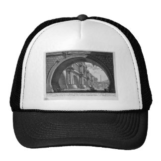 Bridge with magnificent balconies and arches trucker hat