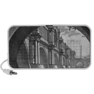 Bridge with magnificent balconies and arches portable speaker