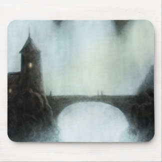 bridgefalls meeting fantasy landscape mouse pad