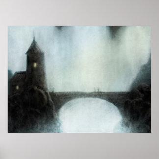 bridgefalls meeting fantasy landscape poster