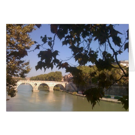 BridgeOver the River Tiber in Rome Card