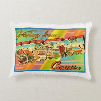 Bridgeport Connecticut CT Vintage Travel Souvenir Accent Pillow