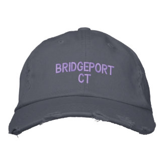 BRIDGEPORT CT - EMBROIDERED CAP EMBROIDERED BASEBALL CAPS