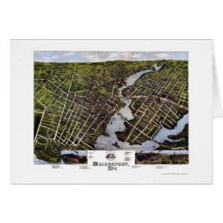 Bridgeport, CT Panoramic Map - 1875 Card
