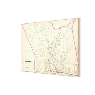 Bridgeport, del norte impresión en lona