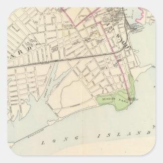 Bridgeport, del sur pegatina cuadrada