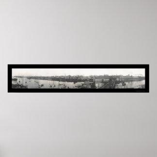 Bridgeport, foto 1913 del CT Posters