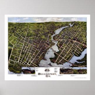 Bridgeport, mapa panorámico del CT - 1875 Poster