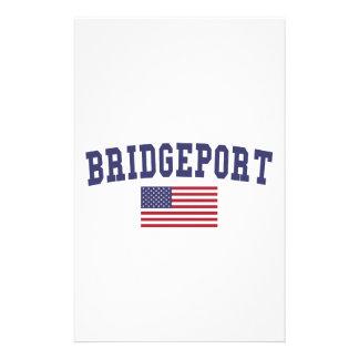 Bridgeport US Flag Stationery