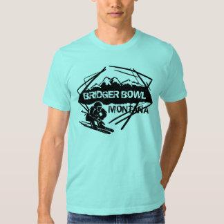 Bridger Bowl Montana guys ski logo tee