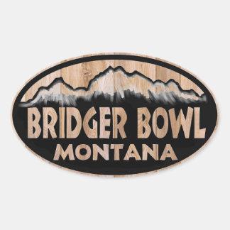 Bridger Bowl wooden oval stickers