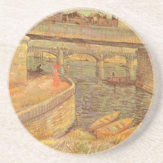 Bridges Across the Seine by Vincent van Gogh Coaster