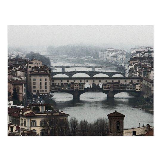 Bridges of Florence, Italy Postcard