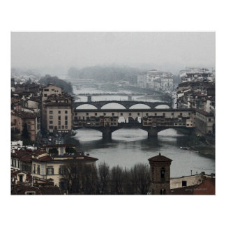 Bridges of Florence Italy Print