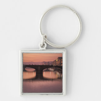 Bridges over the Arno River at sunset, 2 Keychain