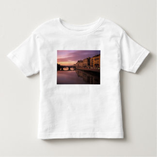 Bridges over the Arno River at sunset, Toddler T-shirt