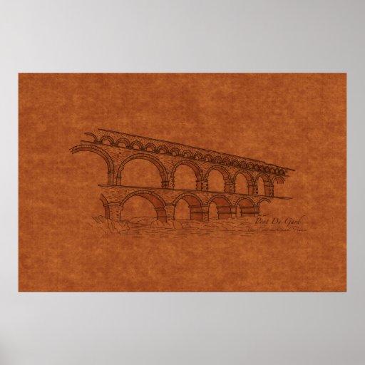 Bridges: Pont Du Gard, France Poster