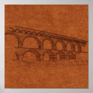 Bridges: Pont Du Gard, France Print