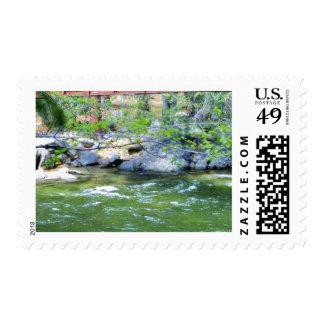 Bridges Streams Rivers Leaves Postage Stamps