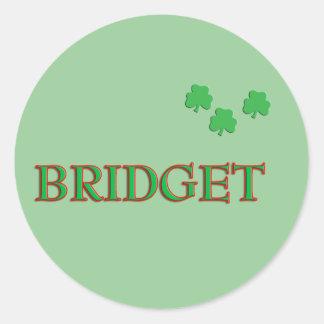 Bridget Stickers   Zazzle