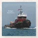 "Bridget McAllister glass coaster<br><div class=""desc"">Bridget McAllister is a tug on the Great Lakes</div>"