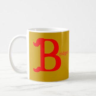 Bridget personalizó la taza