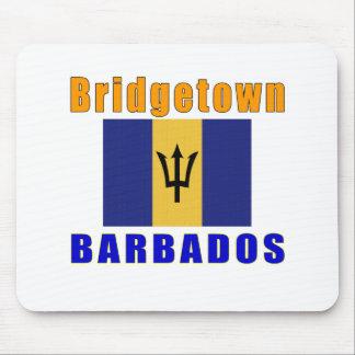 Bridgetown Barbados capital designs Mouse Pad