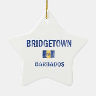 Bridgetown Barbados Designs Ceramic Ornament