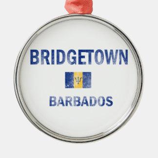 Bridgetown Barbados Designs Metal Ornament