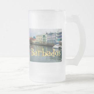 Bridgetown, Barbados Frosted Glass Beer Mug