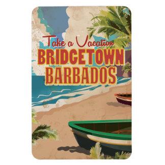 Bridgetown, Barbados Vintage Travel Poster Magnet