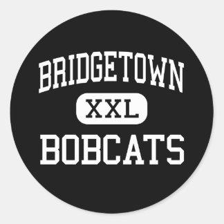 Bridgetown - linces - joven - Cincinnati Ohio Pegatina Redonda