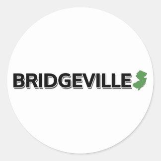 Bridgeville, New Jersey Classic Round Sticker