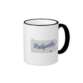 Bridgeville Pennsylvania PA Shirt Ringer Mug