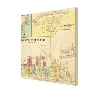 Bridgewater Borough with Shippingport Canvas Print