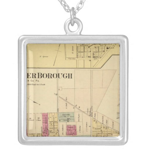 Bridgewater Borough with Shippingport Square Pendant Necklace