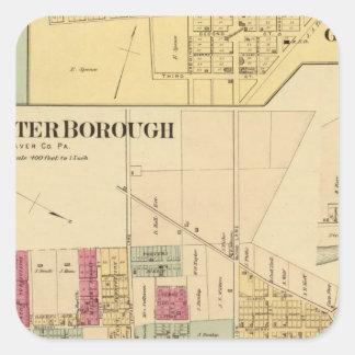 Bridgewater Borough with Shippingport Square Sticker