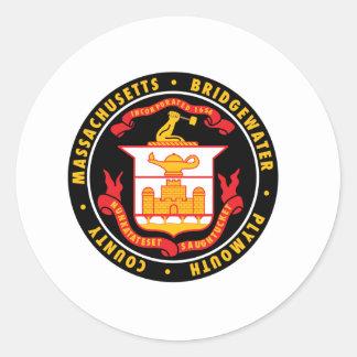 Bridgewater, Estados Unidos señala por medio de Etiquetas Redondas