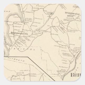 Bridgewater, Hebrón Pegatinas Cuadradas Personalizadas