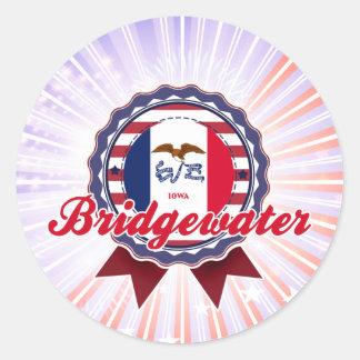 Bridgewater, IA Pegatinas Redondas